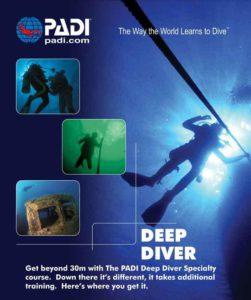 Curso PADI de instructor de buceo profundo